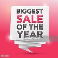 BIGGEST SALE OF THE YEAR, poster design element