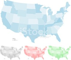 USA,Map,Cartography,Vector,...