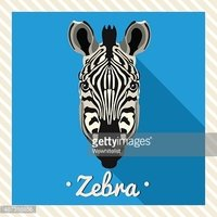 Zebra Face,Cartoon Animals,...