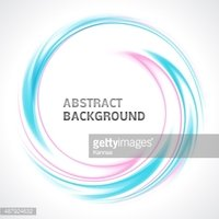 Abstract light blue and pink swirl circle bright background