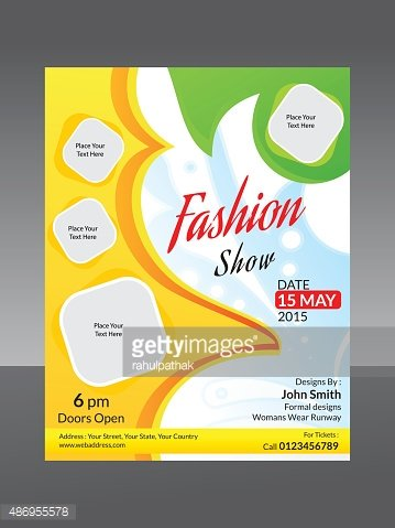 abstract fashion flyer template
