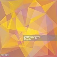 Abstract Background Consisting Of Triangles Yellow Orange