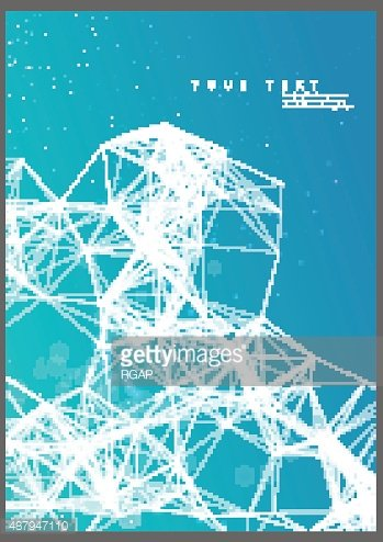 Abstract poster technological network