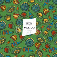 Seamless pattern of tourist attractions Mexico