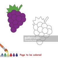 Uvas Dibujos Animados Para Colorear Vectores En Stock Clipart Me