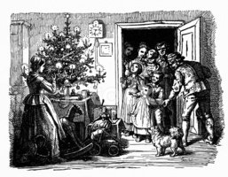 Christmas,Family,Etching,En...