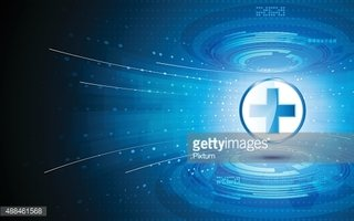 vector abstract tech health care innovation concept background