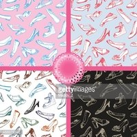 Vector Shoes Seamless Patterns