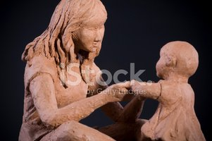 Clay,Sculpture,Two People,B...