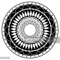 Curve,Mandala,Decor,White B...