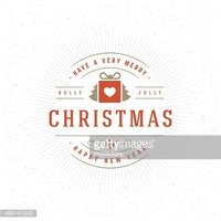 Merry Christmas Greeting Card Vector Background