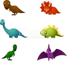 Dinosaur,Cartoon,Monster,Cu...