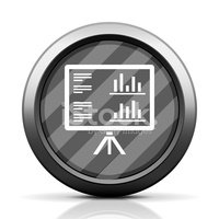 Projection Screen icon on a round button. - Elite Series