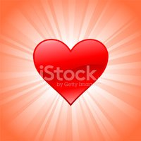 Heart shape on royalty free vector Background with glow effect