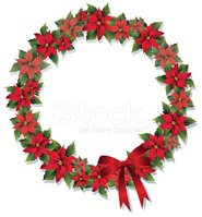 Wreath,Christmas,Poinsettia...