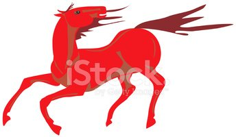 Horse,Red,Fear,Flowing,Ilus...