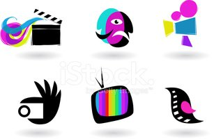 collection of cinema, theater and TV icons