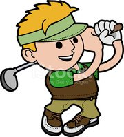 Golf,Cartoon,Characters,Men...