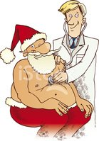 Santa Claus and doctor
