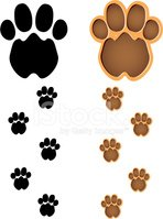 Paw,Footprint,Track,Vector,...