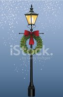 Christmas,Street Light,Vict...