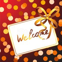 Welcome Sign,Greeting,Backg...