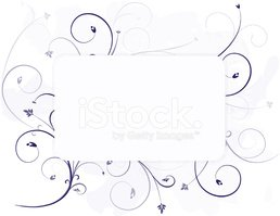 Floral Background Design with Leaves, Swirls, Optional Center Fr