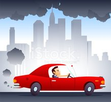 Car,Pollution,Cartoon,Vapor...