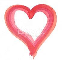 Watercolor Painting,Heart S...