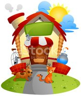 Store,Cartoon,Domestic Cat,...
