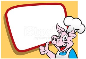 Pig,Chef,Cartoon,Sign,Thumb...