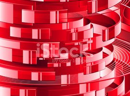Futuristic,Abstract,Red,Pat...
