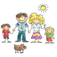 Family,Child,Drawing - Art ...