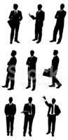 Silhouette,Suit,Men,Busines...