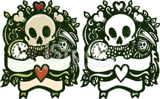 Tattoo,Human Skull,Heart Sh...