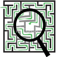 Maze,Magnifying Glass,Searc...