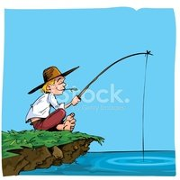 Fishing,Fisherman,Cartoon,L...