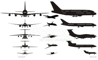 Airplane,Silhouette,Air Veh...