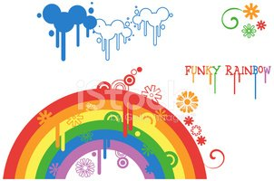 Rainbow,Childhood,Rain,Clou...