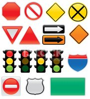 Stoplight,Road Sign,Stop Si...