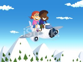 Airplane,Cartoon,Child,Moun...