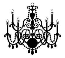 Vector Chandelier Isolated On The White Background Stock Vectors
