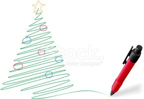 Christmas,Pen,Tree,Sketch,S...