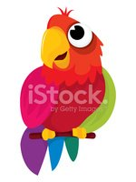 Parrot,Cartoon,Bird,Macaw,C...