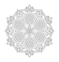Illustrazione Di Mandala Per Adulti Da Colorare Stock Immagini