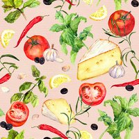 Square,Cheese,Red,Pattern,V...