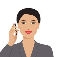 Portrait of asian businesswoman talking on the mobile phone.