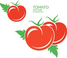 Tomato. Red vegetables with leaves