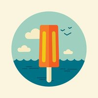 Ice Cream vector icon. Summer, Beach, Sun, Sea