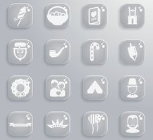 Holidays simply icons
